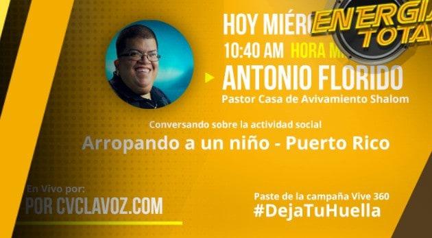 Antonio Florido/ actividad social en Puerto Rico