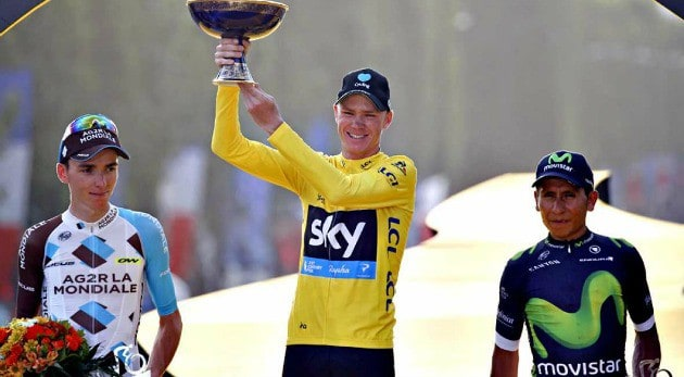 Chris Froome 0 y van 3. Nairo tercer podio en el Tour de Francia