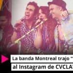 """La banda Montreal trajo """"Más color"""" al Instagram de CVCLAVOZ"""