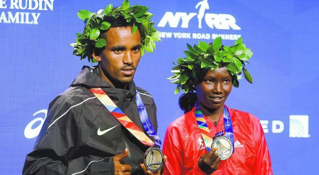 Keitany y Ghebreslassie ganadores del Maratón de New York