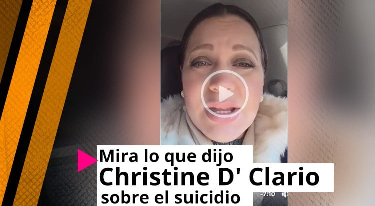 Mira lo que dijo Christine D' Clario sobre el suicidio