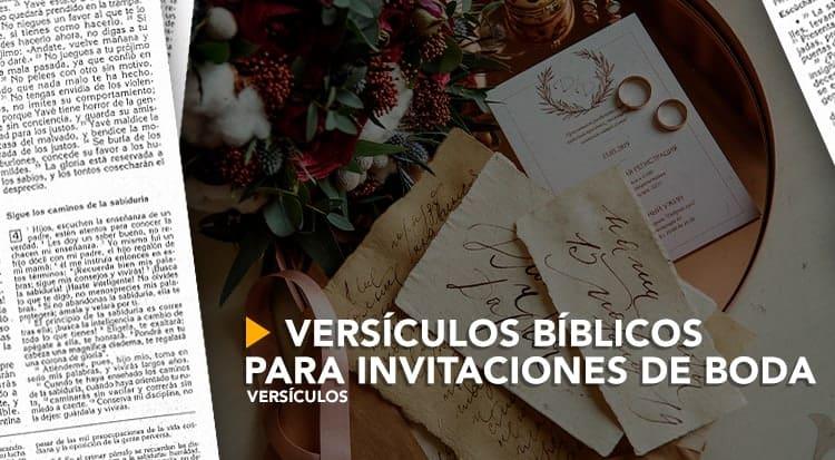 Versículos Bíblicos Para Invitaciones De Boda Cvclavoz