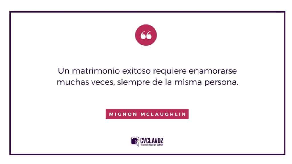Frase de Mignon McLaughlin