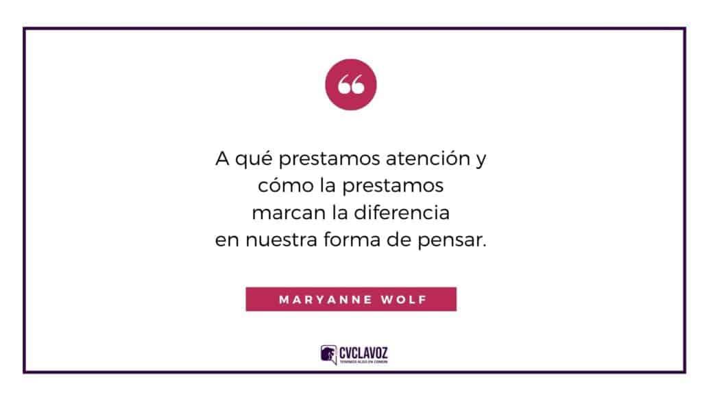 Frase de Maryanne Wolf