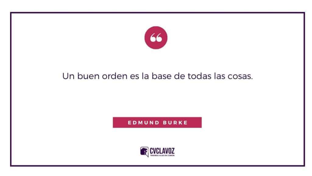 Frase de Edmund Burke