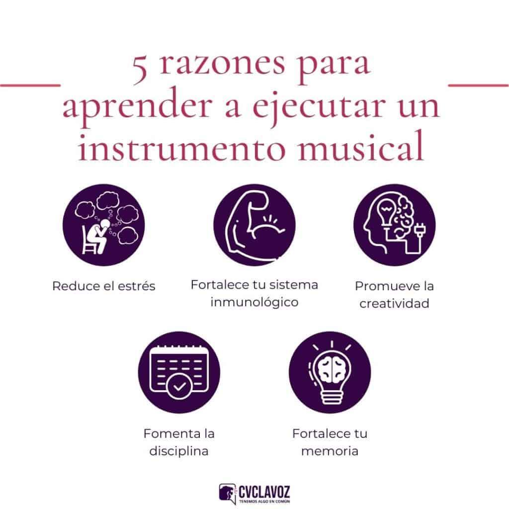 Por qué aprender a ejecutar un instrumento musical