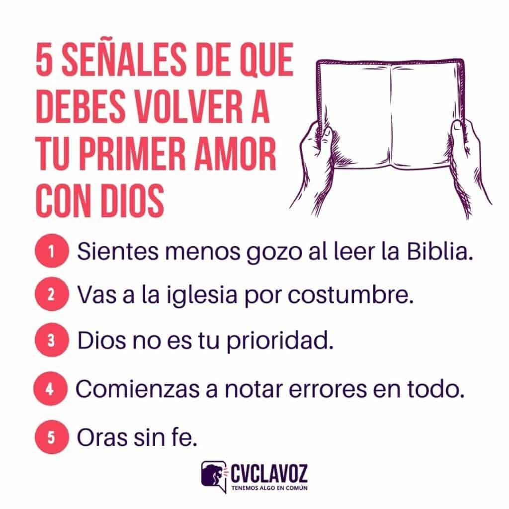 5 señales de que debes volver a tu primer amor con DIos