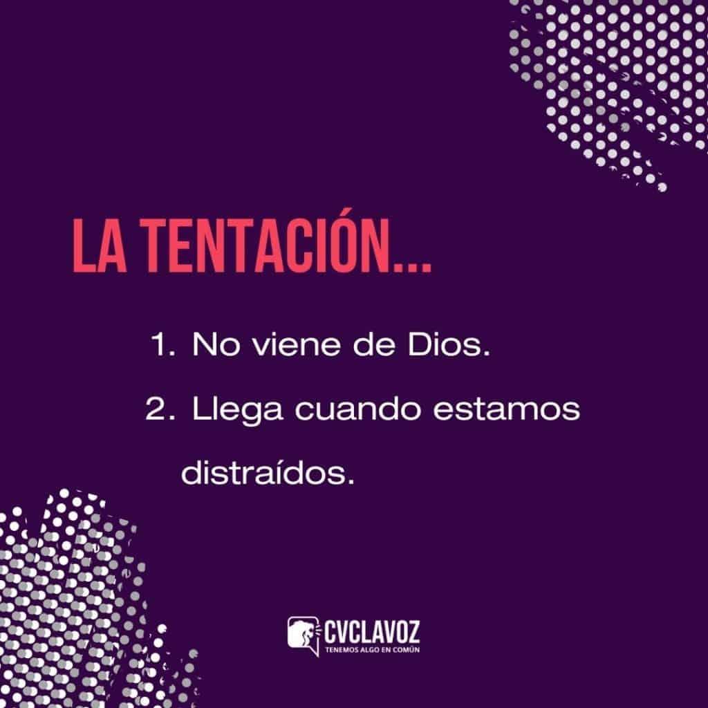Qué dice la Biblia sobre la tentación